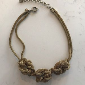 J. Crew gold tone rope necklace